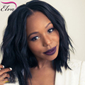 Wet Wavy Bob Wigs 7A Brazilian Virgin Hair Short Bob Wigs For Black Woman Glueless Full Lace Wigs With Baby Hair Bleached Konts
