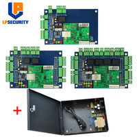TCP/IP 1 2 4 Door Access Control Panel Board with DC12V 5A Power Supply Box Home Office