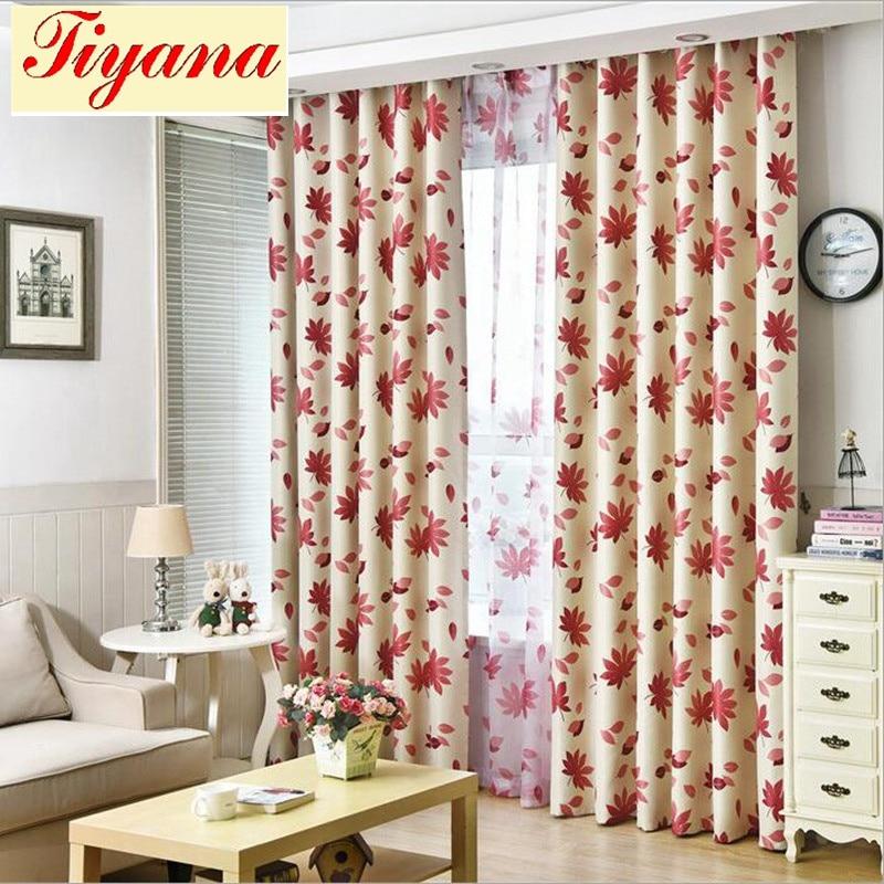 Red Maple Blackout Curtains Orange Tulle Curtain 5x2.6 Valance 2x2.6 hook Window Treatment Panel ...