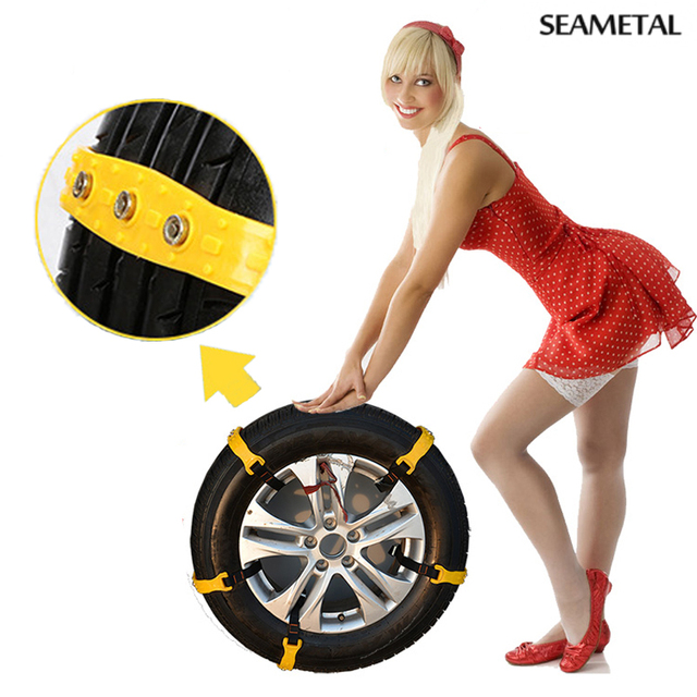10pcs/Set Car Styling Tire Snow Chains For 185-225 Snowblower Mug Ice Anti Wheel Slip Tyre Tire Chain Beef Tendon Car-Styling