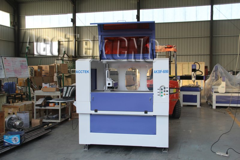 Big  Area And High Precision  Cnc Fiber Laser Marking Machine AK6090F   For Steel And Nonmetal