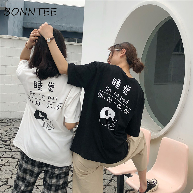 Detail Feedback Questions about T shirts Couple Harajuku Loose Letter  Printed Korean Half Sleeve Tees Womens Funny Casual Trendy T shirt Women  All match ... 8c86fe53c2f4