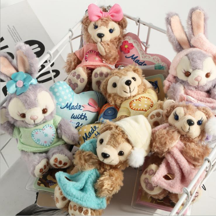 1pcs Duffy Bear New Friends Stellalou Plush Toys  Small Pendant  8-9CM 7kinds WJ01