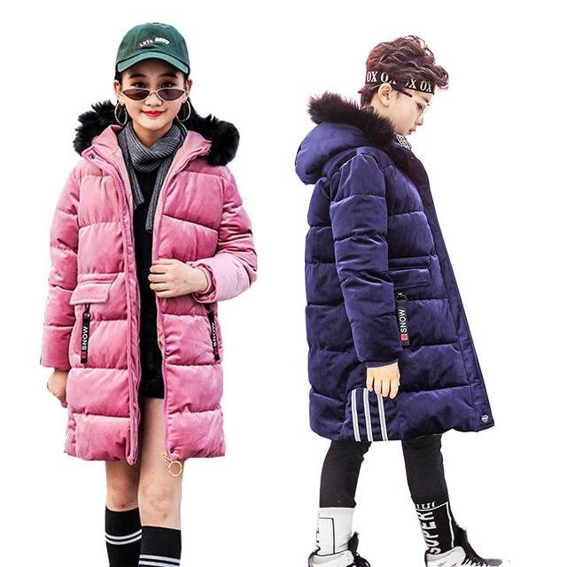 f181ca8a1064 Kids Winter Jacket for Boys Down Jackets Teenage Boys Long Coats ...