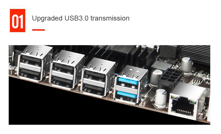 2 ram slots usb3.0 desktop mainboard para