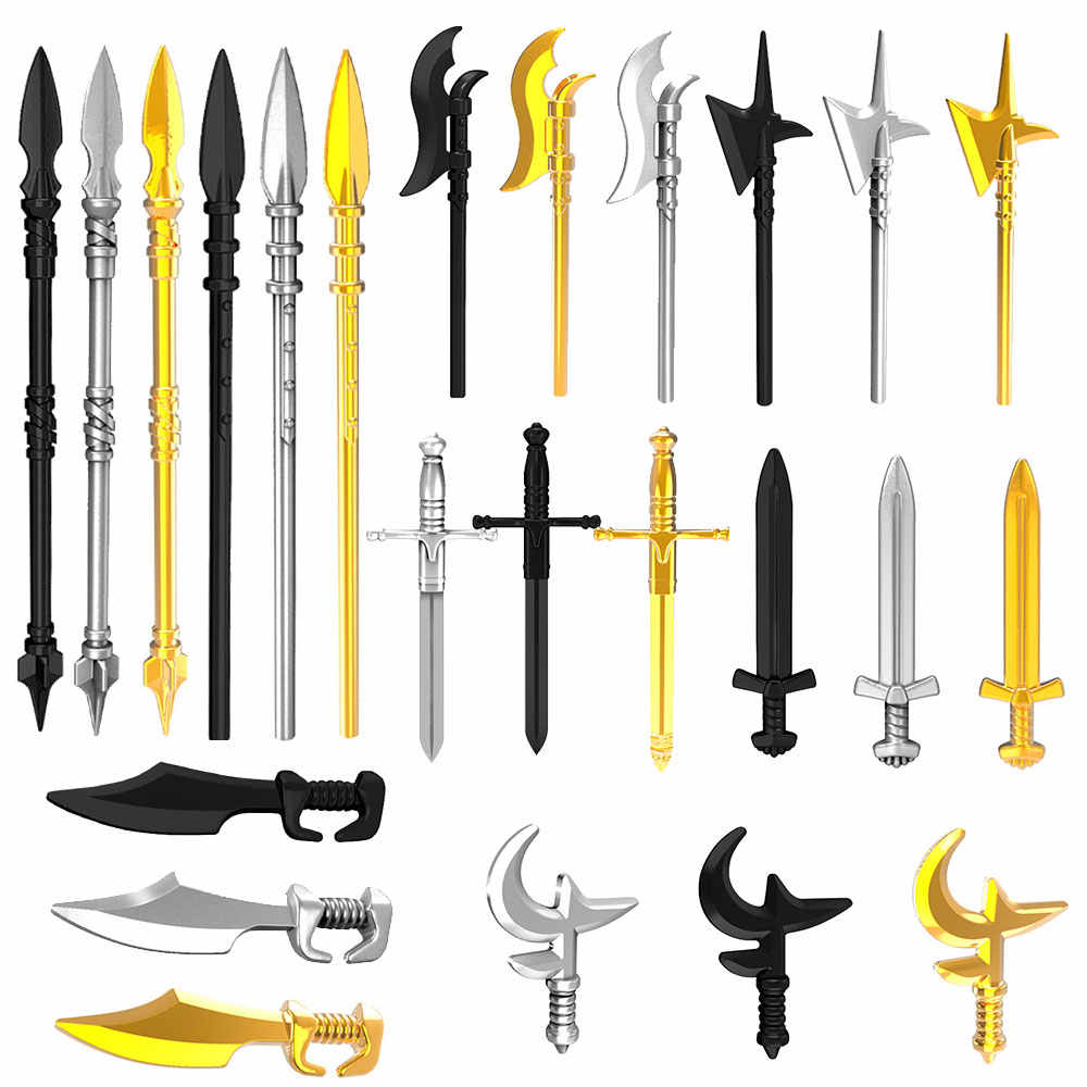 Middle Ages Lance Ax Sword Spears MOC Medieval Knights