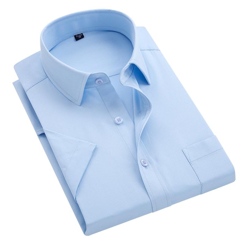 Business Shirt Men's Short Sleeve 2019 Twill Professional Tooling Shirt Men's Shirt Official Wild Classic Short Sleeve Shirt Men