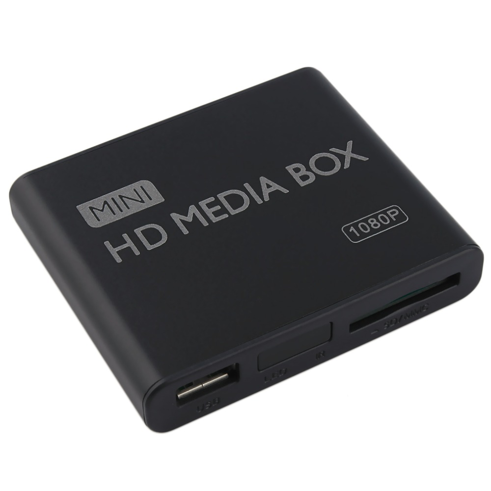 цена на In stock! Mini Full 1080p HD Media Player Box MPEG/MKV/H.264 HDMI AV USB + Remote EU plug Newest