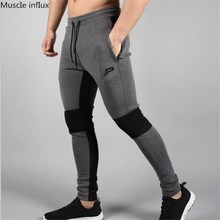 Brand Men Joggers Casual Sweatpants Pantalon Homme Black Elastic cotton GYMS Fitness Workout pants