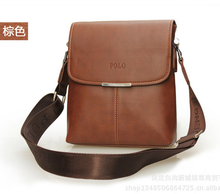 New men's shoulder bag leisure bag POLO vertical section Messenger bag business gifts high-quality leather 24 * 21 * 7cm