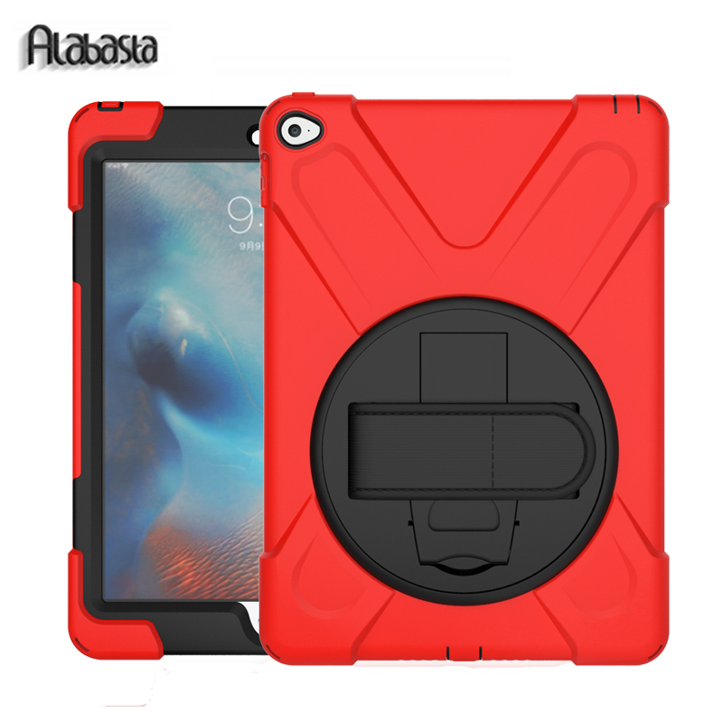 Alabasta for Fundas iPad Air 1 Case Shockproof Hand Strap 360 Degree Rotation Pc + Silicone Stand Cover 9.7inch Heavy Duty Hard levett caesar prostate massager for 360 degree rotation g spot
