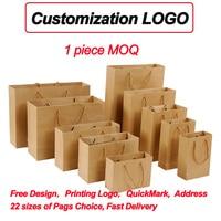 custom printed bracelet grocery shopping brown kraft paper bag