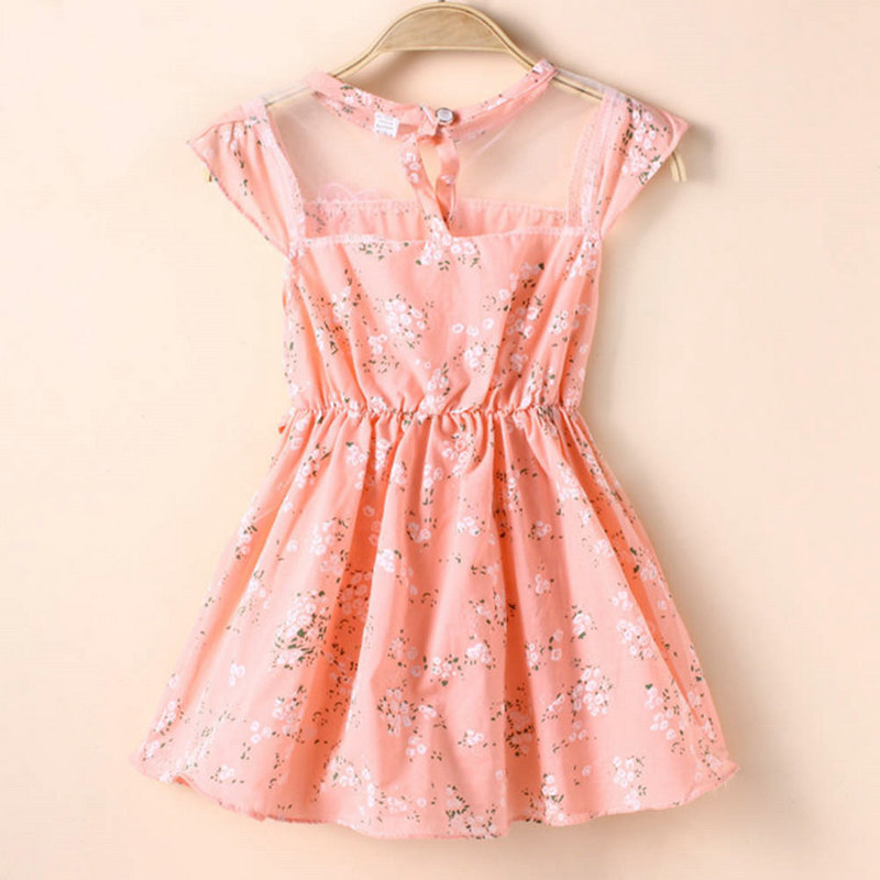 Amiable 2018 Baby Girl Floral Tunic Princess Vestido One-piece Toddler Summer Holiday Dress Exquisite Craftsmanship;