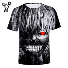 Anime Tokyo Ghoul 3D Funny Cotton T shirts Unisex Cool Short Sleeve