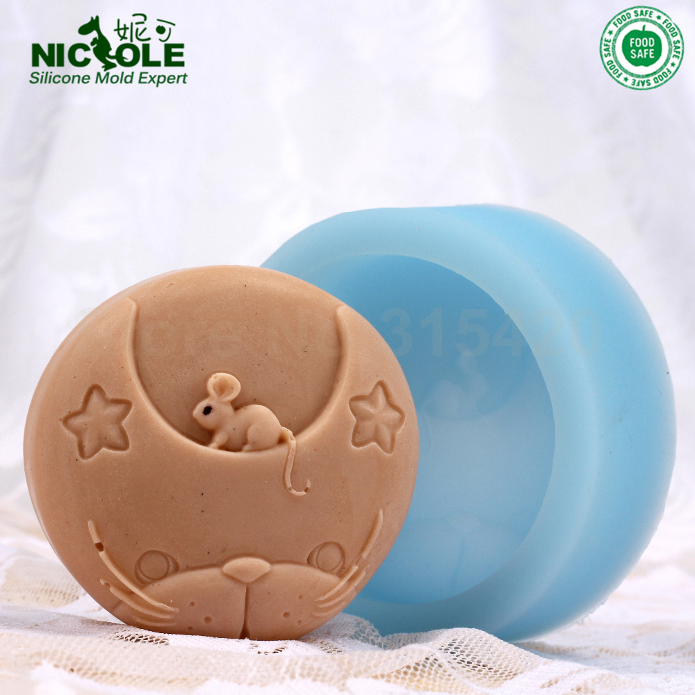 Nicole New Arrivals Homemade Cute Mouse Silicone Soap Molds Natural Soap Molds Animals Soap Molds