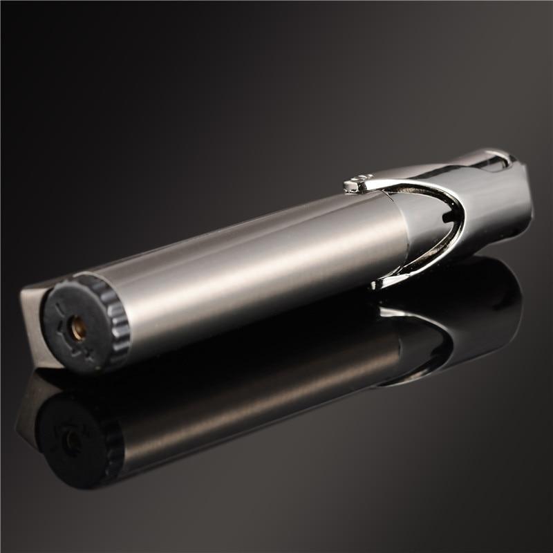 Image 4 - Compact Jet Lighter Gas Torch Lighter Strip Fixed Fire Windproof Metal Cigar Lighter 1300 C Butane Lighter Cigarette Accessories-in Matches from Home & Garden