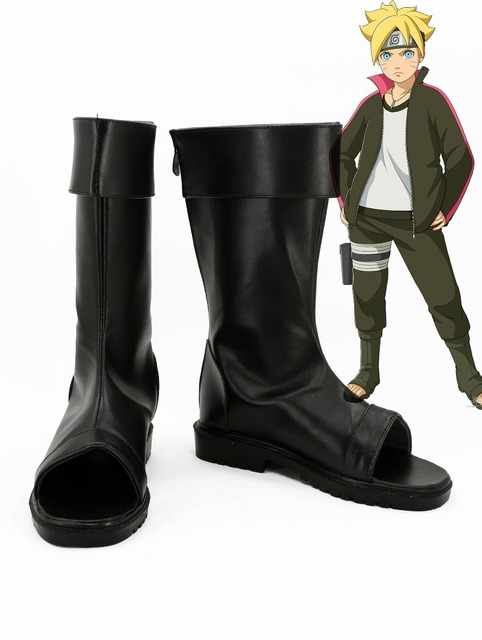 NARUTO Anime Uzumaki Boruto Cosplay Shoes Boots Custom Made