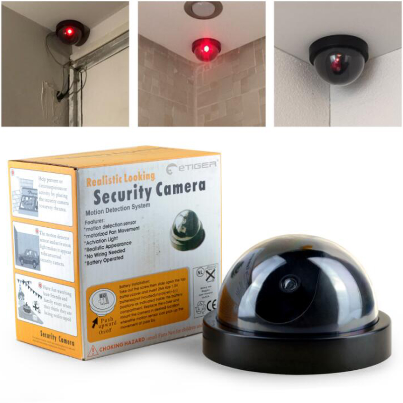 Surveillance Dummy Led Wireless Fake Dome Camera Home CCTV Security Camera Simulated Video Surveillance