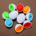 6pcs/set  Pretend Puzzle Smart Eggs Essential Learning Education Toys Mixed Shape Wise Baby Kid Learning Kitchen Toys Tool