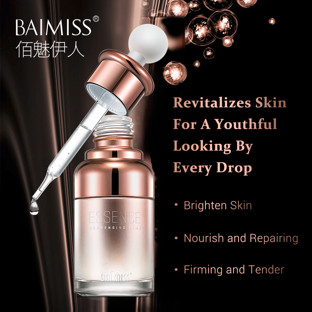 BAIMISS Six Peptides Rejuvenation Essence Liquid Anti Wrinkle Face Serum Moisturizing Firming Anti Aging Brighten Skin Care 30ML