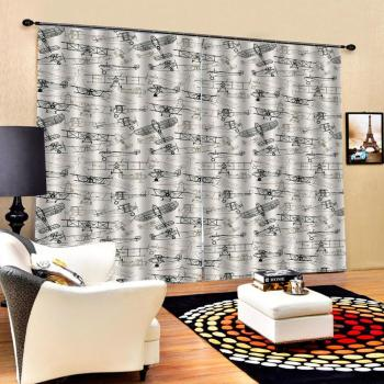 Curtain office Bedroom 3D Window Curtain Luxury living room decorate Cortina fly curtains Blackout curtain