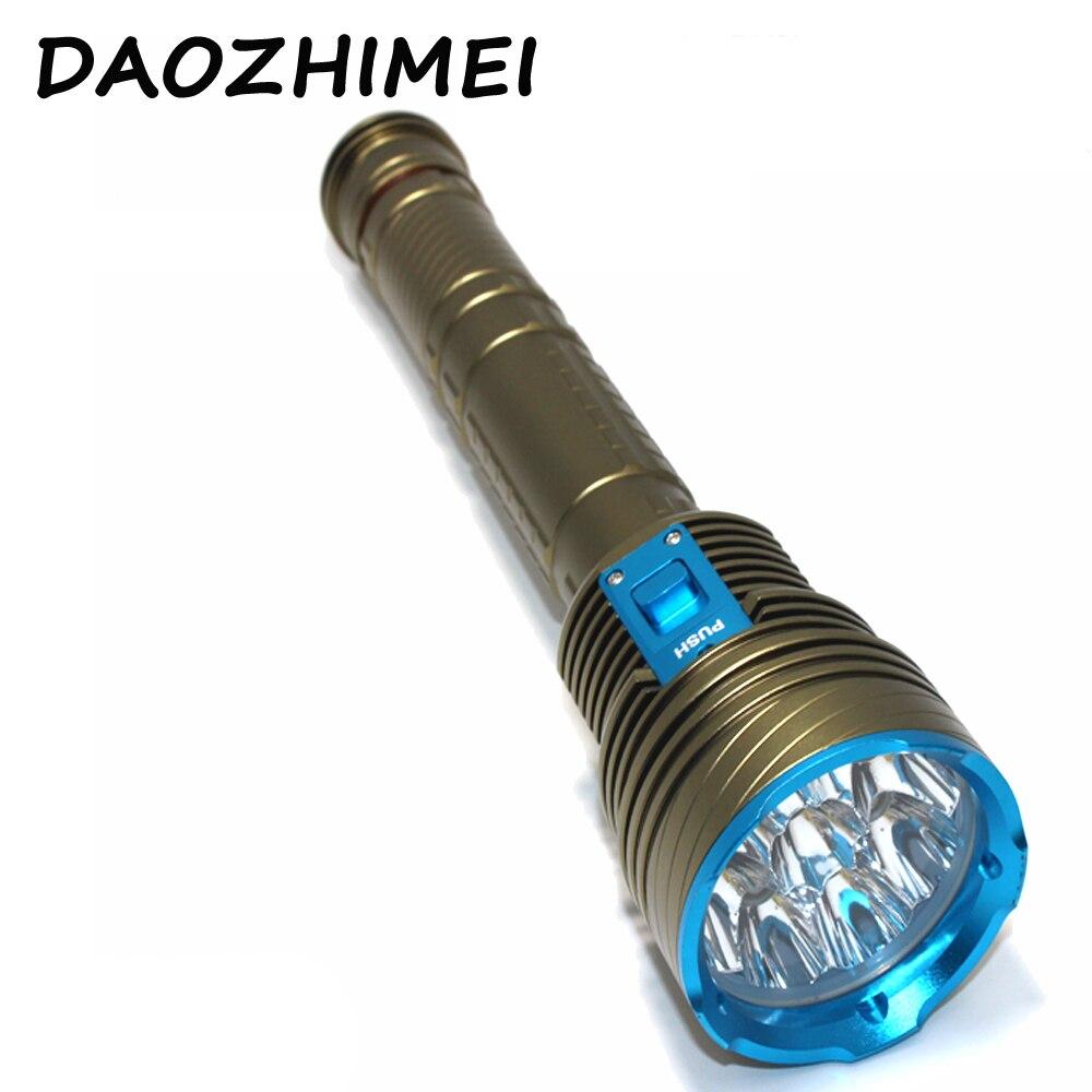 20000LM sous-marin plongée lumière lampe de poche LED XM-9xL2 lampe de plongée torche défensive étanche éclairage sous-marin pêche lumières