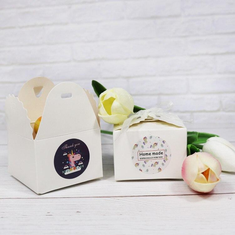 יום הולדת חד קרן מדבקות למתנות אריזות חבילות לייף-דיזיין להזמנה