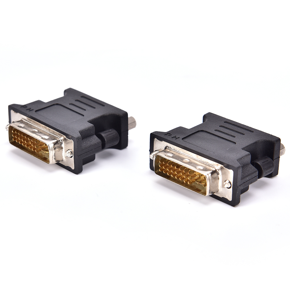 DVI-I 24+5 Male Pin DVI Male To VGA 15 Female Video Converter Adapter For PC Laptop HDTV LCD DVD Computer Projector