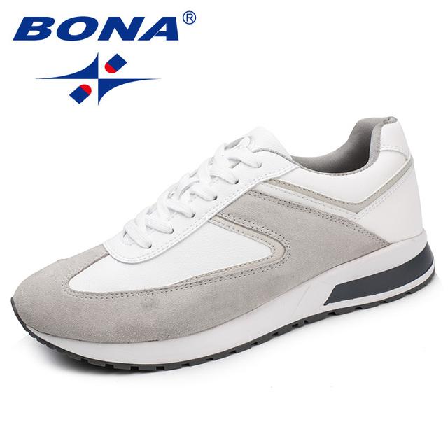Nueva llegada de BONA, estilo clásico, zapatos para caminar para hombres, zapatos atléticos de gamuza, zapatos para correr, zapatillas de deporte para exteriores para hombre
