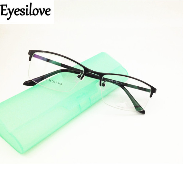 Eyesilove mens business eyewear frame for big face optical frame acetate Temple Prescription glasses frame Eyeglasses Frames