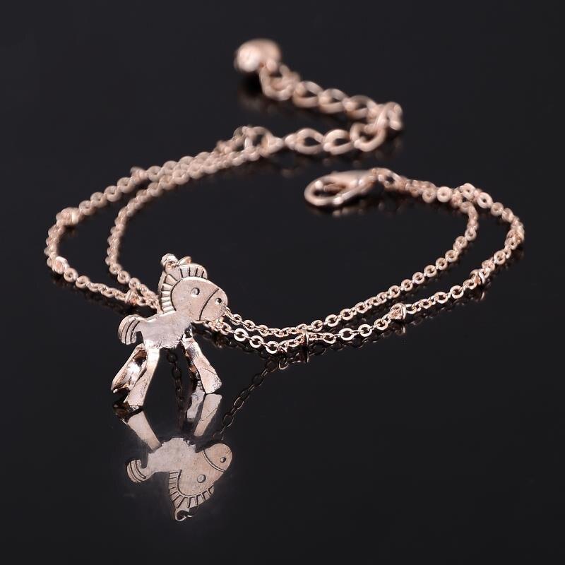 1 piece Little Horse bells Chain Bracelets Women Jewelry Fashion Personalized Women Casual Joker Alloy Jewelry