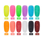 12 Boxes/set Holographic Sugar Nail Glitter Sandy Holo Powder Candy Color Dust Manicure Dust Pigment Nail Art Decorations Tools
