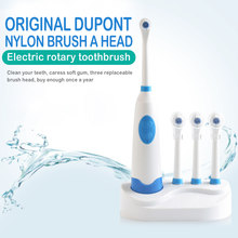 5Pcs/set Battery Operated 8500 times/min Rotary Electric Toothbrush With 4 Brush Heads Oral Clean Teeth Whitening Tooth Brush(China)