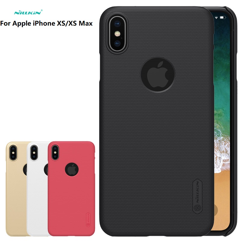 Para A Apple iPhone 7/8/XS/XR/XS MAX Caso NILLKIN Super Fosco Protetor rígido de volta caso capa Para O iPhone Da Apple X/7/8 mais cobertura