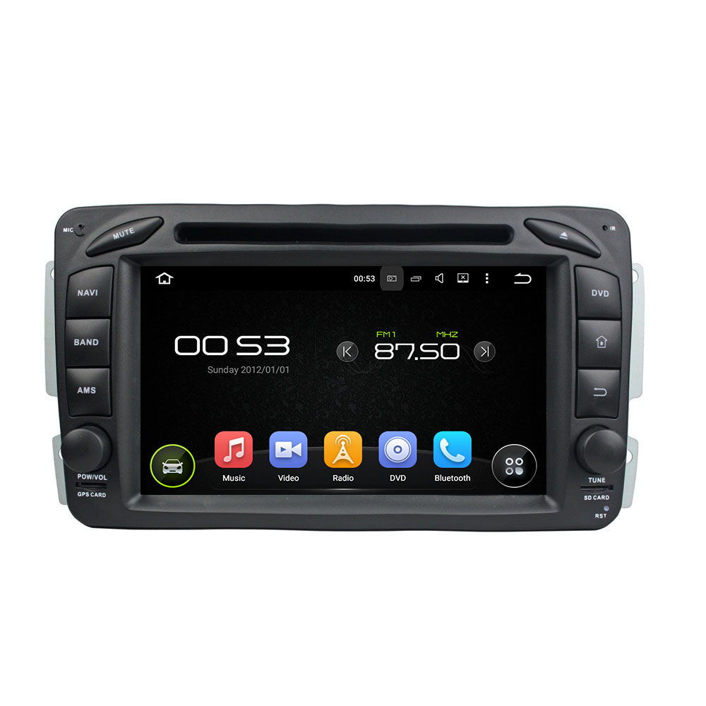 Android 8.0 octa core 4GB RAM car dvd player for BENZ W163 W209 W203 W170 ips touch scre ...