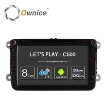 4 г SIM сети LTE ownice C500 Octa 8 core Android 6.0 2 г Оперативная память 2 Дин DVD GPS Navi Радио-плеер для VW Skoda Octavia 2