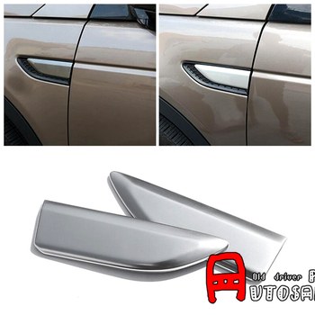 ABS Matt Air Flow Vent Trim Fender Grill 2 ชิ้น/เซ็ตสำหรับ Land Rover Discovery Sport 2015 2016