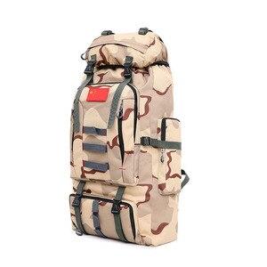 Image 2 - 80L большой емкости мужской военный рюкзак многофункциональный водонепроницаемый Оксфорд поход рюкзаки для кемпинга износостойкий дорожный рюкзак