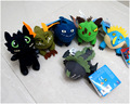 Free shipping 6pcs/set Genuine Train Your Dragon Night Fury Toothless Gelun Ke 2 Train Dragon plush dolls Quality PP cotton
