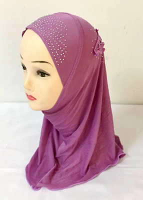 More colors Small girl hijab Children MUSLIM HIJAB (suits about 0-8years old))