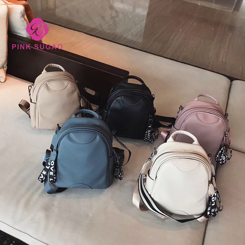 Pink sugao backpack women backpack school bags for teenage girls small backpack bookbag luxury leather backpack