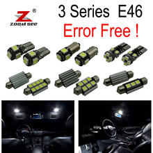 15pcs LED lamp interior dome map light kit for BMW E46 Sedan Coupe 318i 325i 328i 330i M3 (1999-2005)