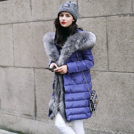 2016 new hot winter Thicken woman Down jacket Coats Parkas Outerwear Hooded fox Fur collar long plus size XL High end luxurious 2016 new hot winter thicken warm woman down jacket coats parkas outerwear hooded fox fur collar luxurious long plus size 3xxxl
