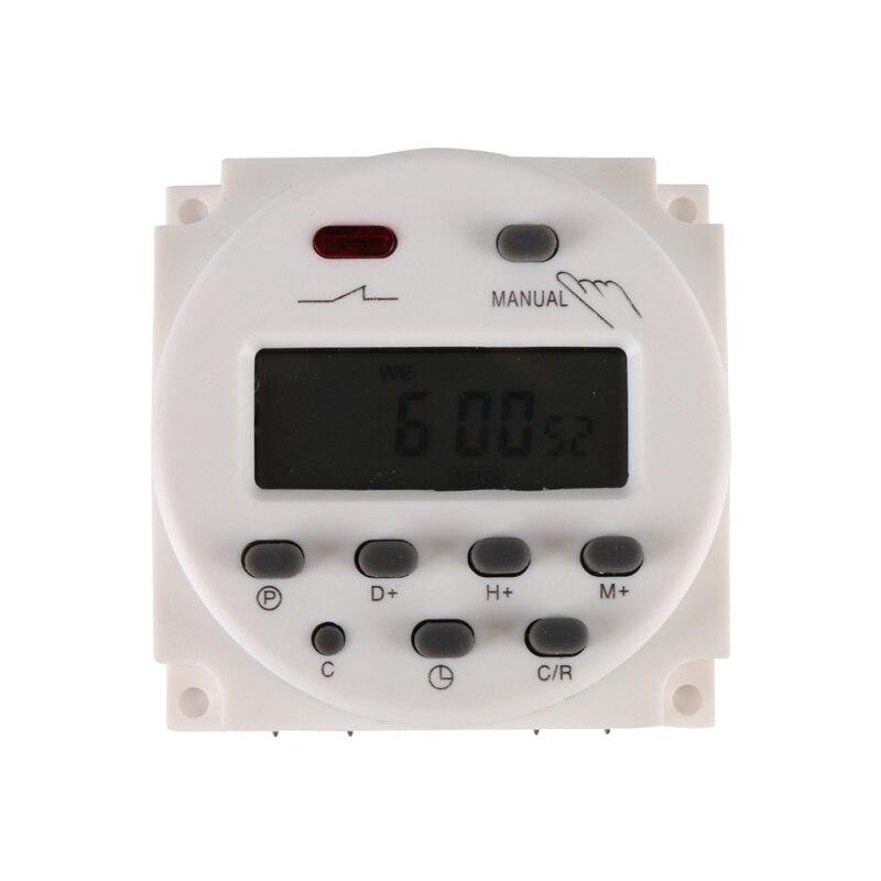AC 12 v 220 v AC Digitale Tijd Schakelaar Uitgangsspanning Programmeerbare Timer Schakelaar voor Verlichting Toepassing