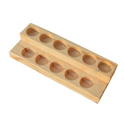 30 Holes Wooden Essential Oil Tray Handmade Natural Pine Wood Display Rack Demonstration Station For 5-15ml Bottles