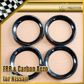 Car-styling For Nissan R35 GTR Carbon Fiber Air Con Surround Vents Trim (4Pcs)
