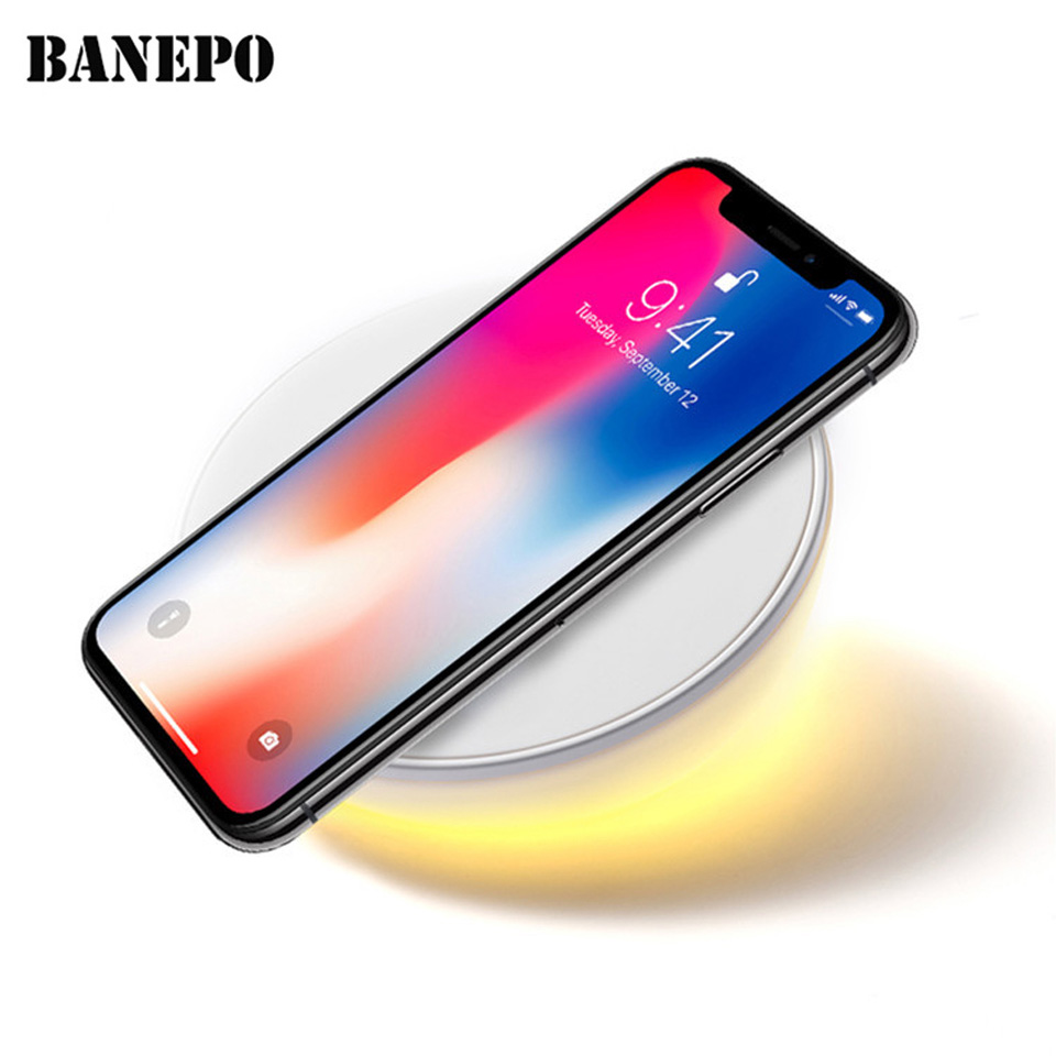 Universal Qi Wireless Charger For Samsung Galaxy S8 Plus S7 Edge Clock Wireless Charging Pad for Iphone X 8 Plus Table Lamp c180