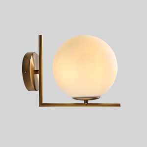 Image 3 - Modern Glass Ball Wall Lamps led Bedside Reading LED Lamp White Globe Wall Lights Indoor Home Decoration Lighting E27 Luminaire