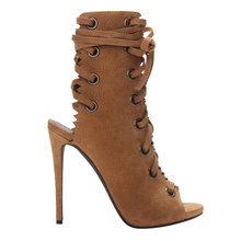 2016 new fashion high thin heel peep toe with beautiful charm shoes for woman in spring and autumn big size 35-41
