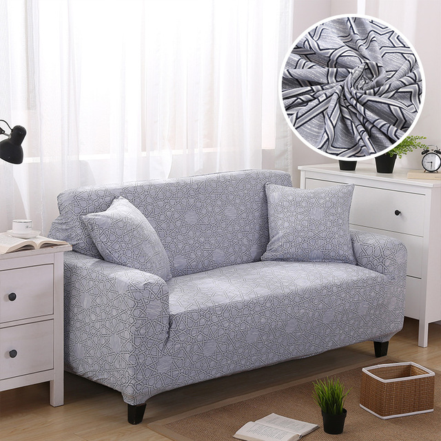 US $18.0 50% OFF|Modern Elastic Sofa Cover Universal Stretch Couch Cover  Living Room Corner Sofa Slipcover Fabric Geometric Floral 1/2/3/4 Seater-in  ...
